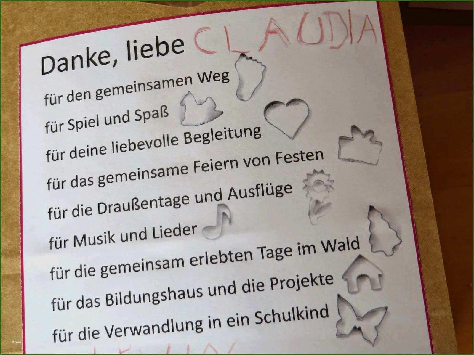 Abschiedsbrief Kindergarten Vorlage Wunderbar
