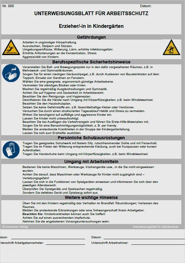Betriebsanweisungen Fur Arbeitsmittel Bagger 10