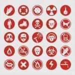 Arbeitsschutz Symbole Vorlagen Angenehm Arbeitsschutz Verschiedene Symbole — Stockvektor © Yurumi