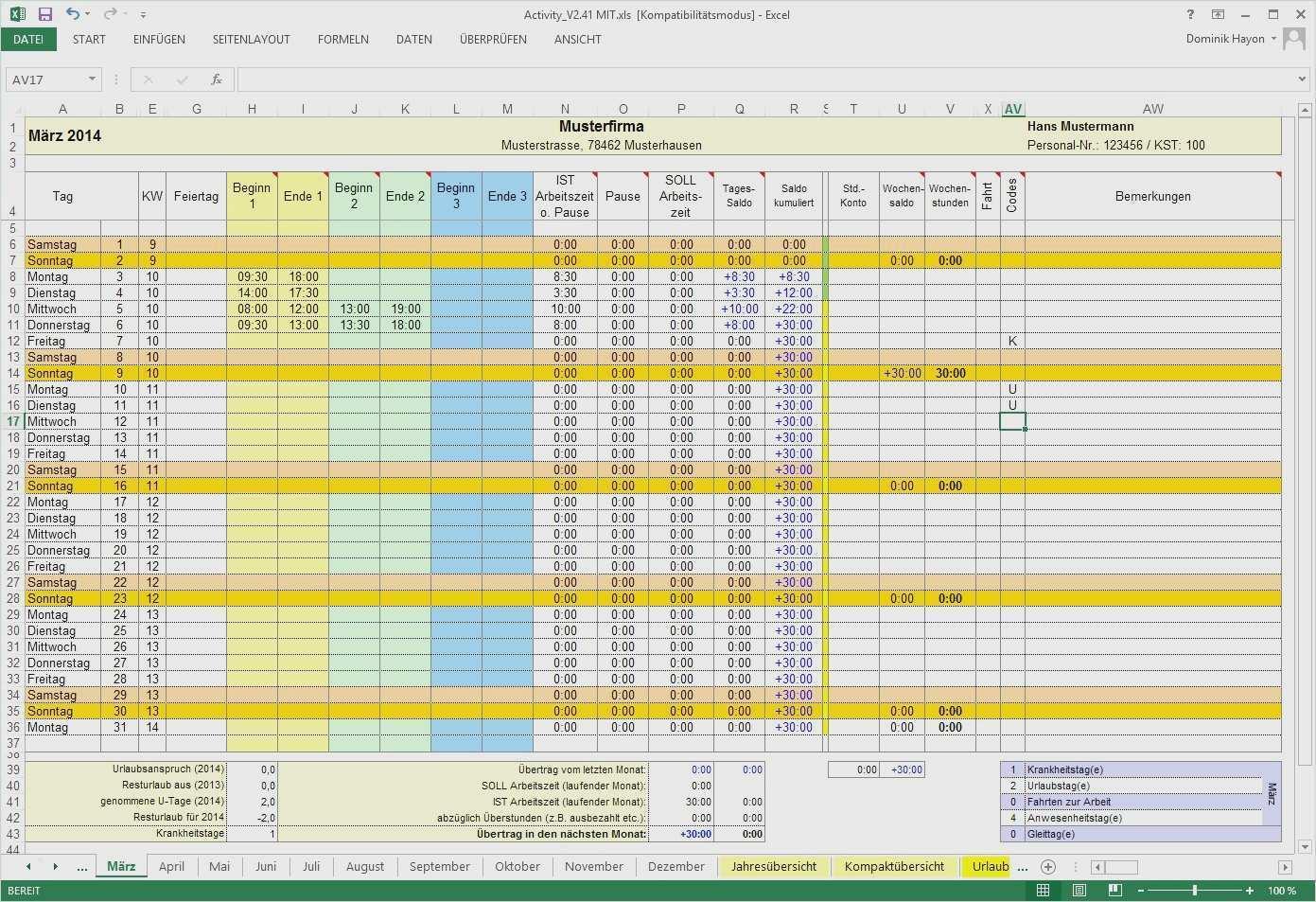 Arbeitszeitnachweis Vorlage Kostenlos 2018 Genial Zeiterfassung Excel Vorlage Kostenlos 2018 Bewundernswerte