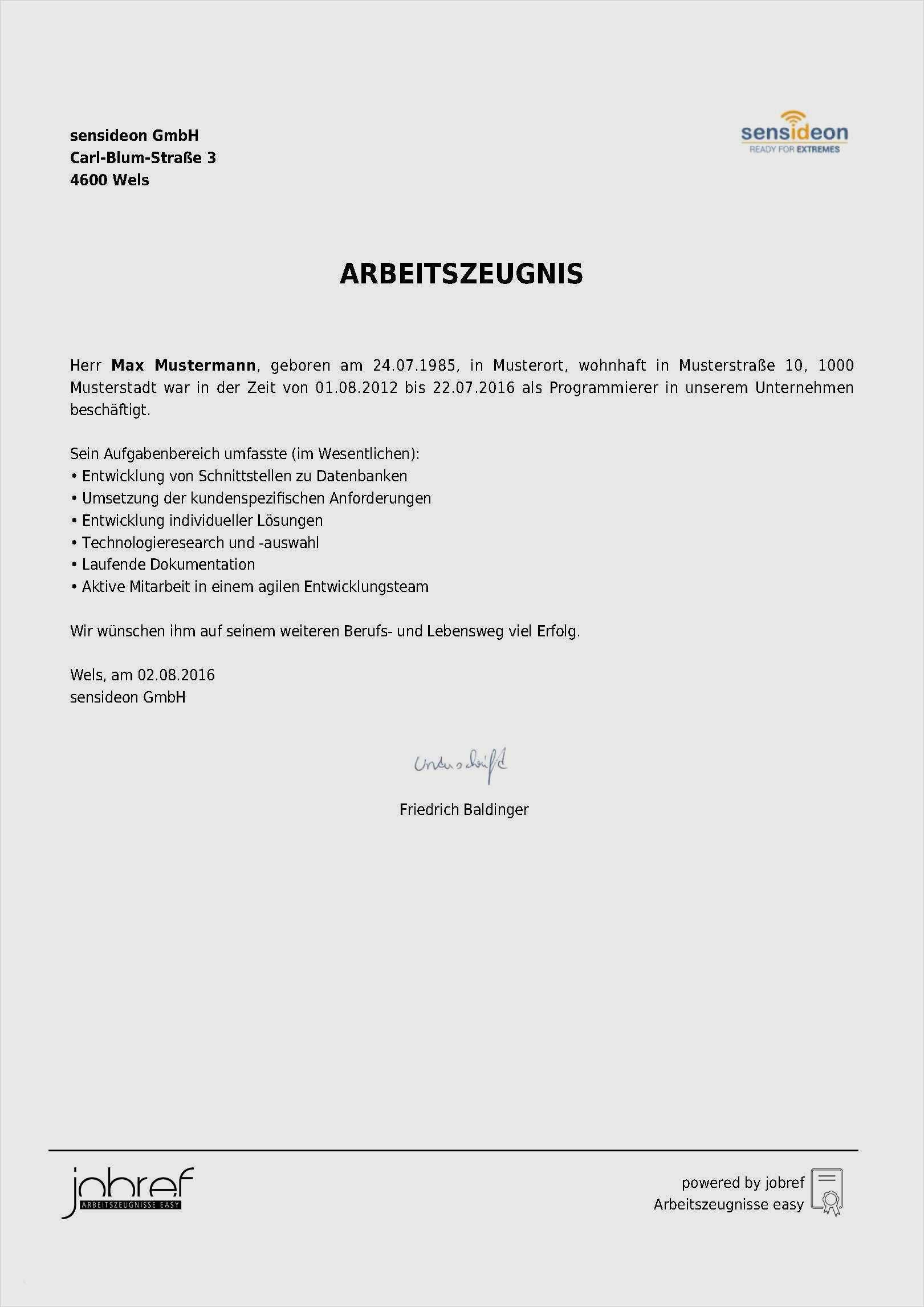 Arbeitszeugnis Muster Vorlagen Schweiz Kostenlos Downloaden 15