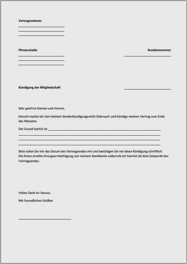 Fitness First Online Kundigen Geprufte Vorlage