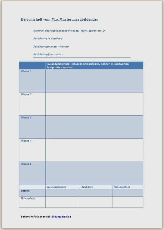 Ausbildungsnachweis Koch Vorlage Erstaunlich Berichtsheft Vorlage Ausbildungsnachweis Muster Kostenlos