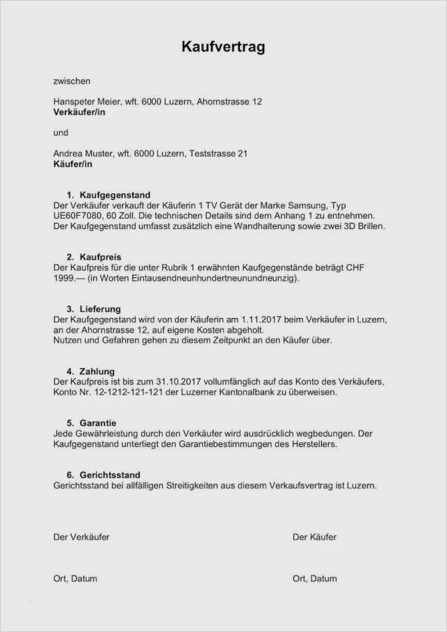 Autoverkauf Vertrag Vorlage Word Gut 16 Autoverkauf ...