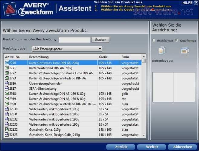 Avery Zweckform 3652 Vorlage Download Wunderbar Avery Zweckform assistent 4 0 2 Download Windows