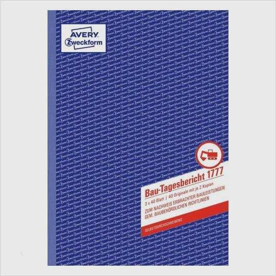 Avery Zweckform 3652 Vorlage Download Wunderbar Bau Tagesbericht 1777