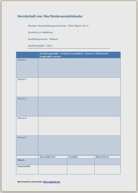 Ausbildungsnachweis Berichtsheft Handwerkskammer Zu Koln