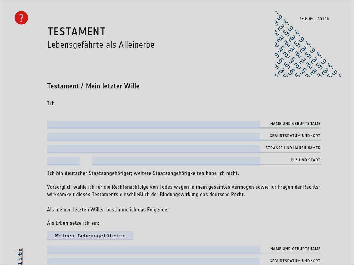 Testament Muster Testament Vorlage Testament 11