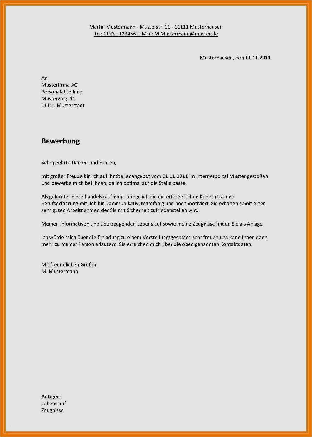 Bewerbung Als Sachbearbeiterin Vorlage Einzigartig 11 Bewerbungsschreiben Nach Ausbildung Muster
