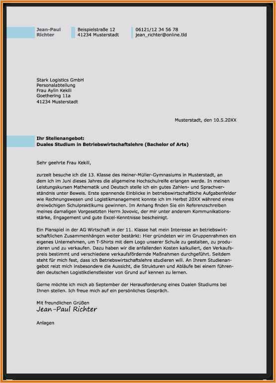 Bewerbungsschreiben Verwaltungsfachangestellte Ausbildung