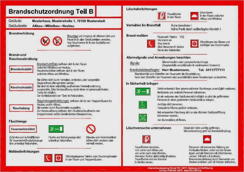 Muster Brandschutzordnung Allgemeine Verwaltung 7
