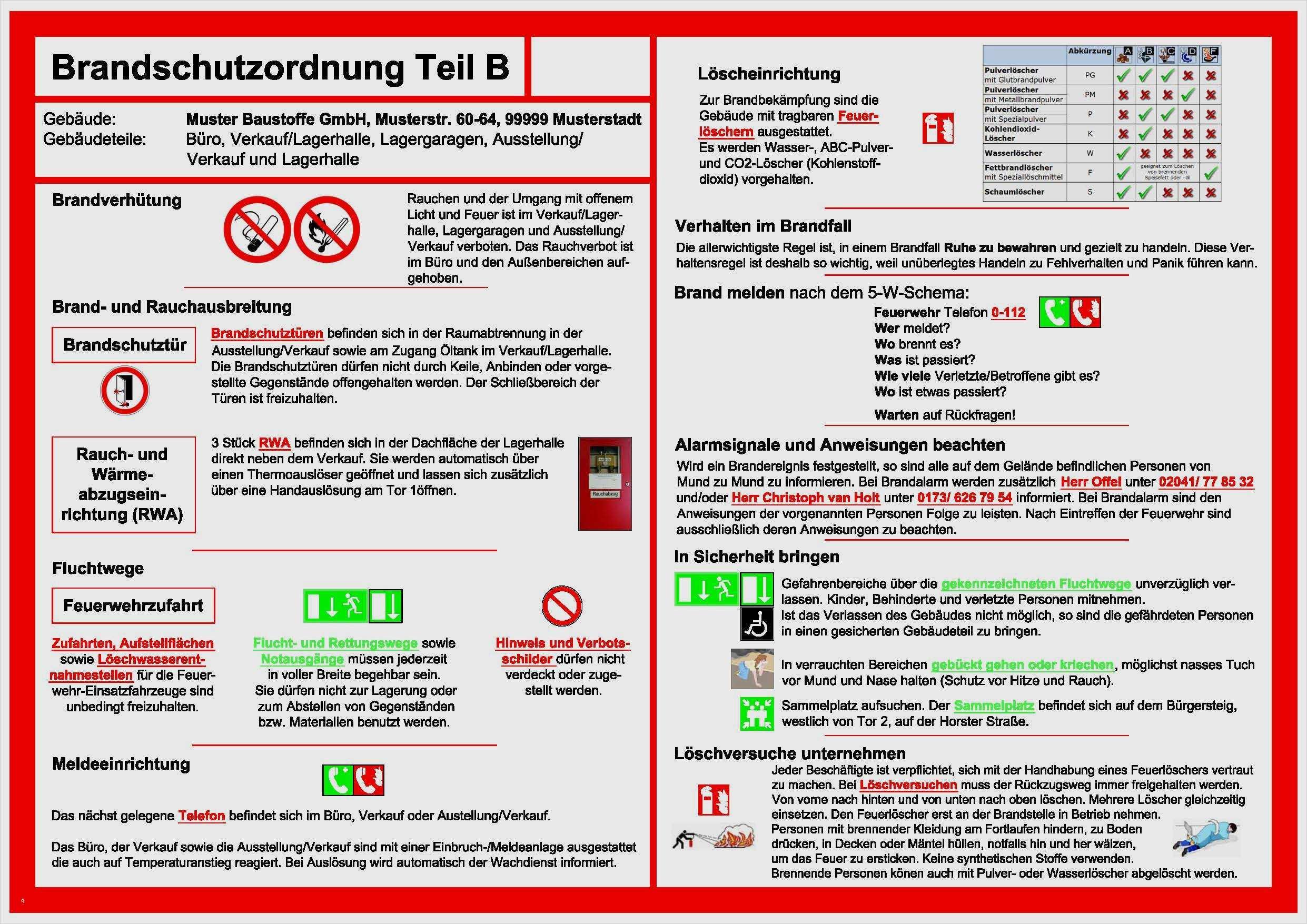 Brandschutzordnung Teil A B Und C Muhelos