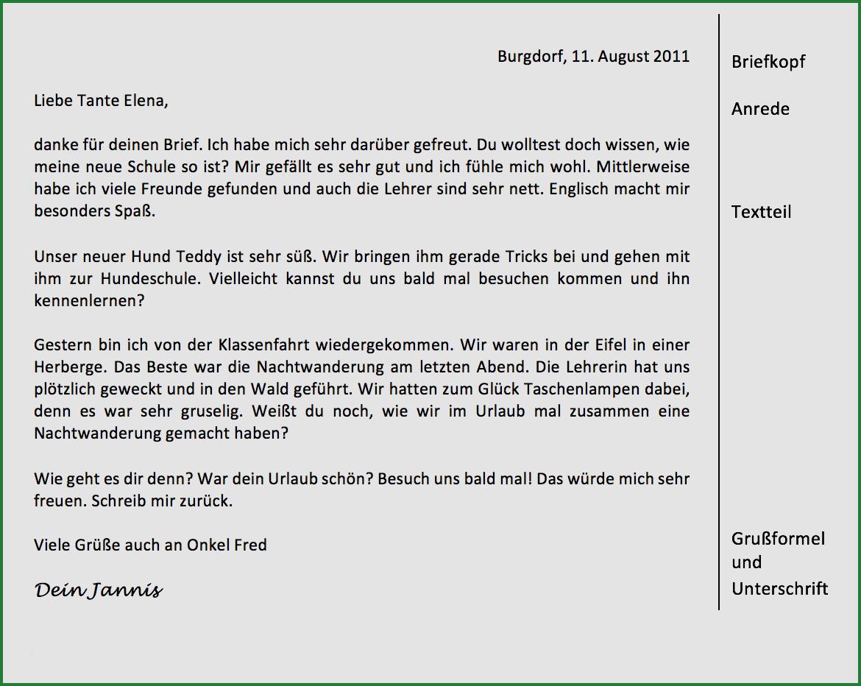 Urlaub über brief schreiben Brief Deutsch