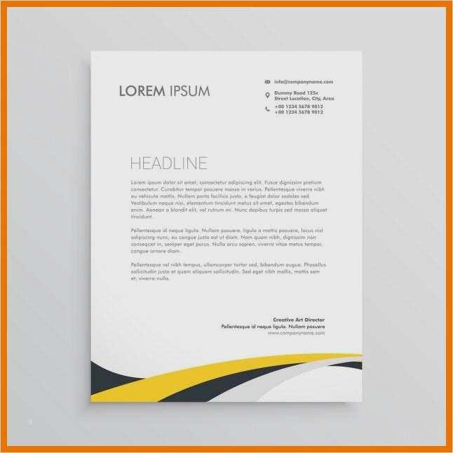 Briefkopf Design Vorlagen