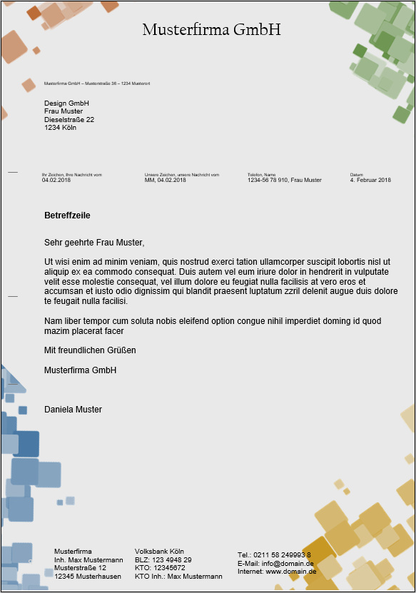 Briefkopf Vorlage Word Schönste Kostenlose Word Briefkopf Vorlagen Herunterladen