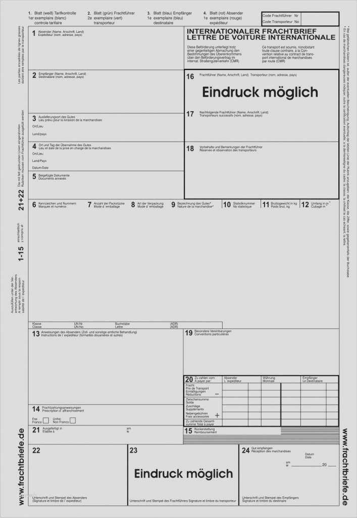 cmr frachtbrief pdf in cmr frachtbrief vorlage pdf der beste gro frachtbrief vorlagen beste cmr frachtbrief pdf