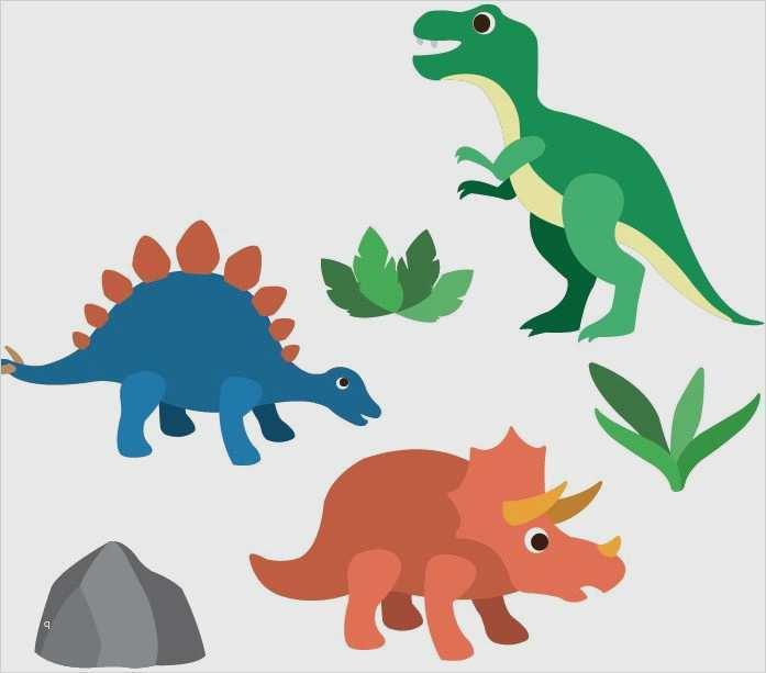 Dinosaurier Basteln Anleitung Und Vorlage Zum Ausdrucken 9