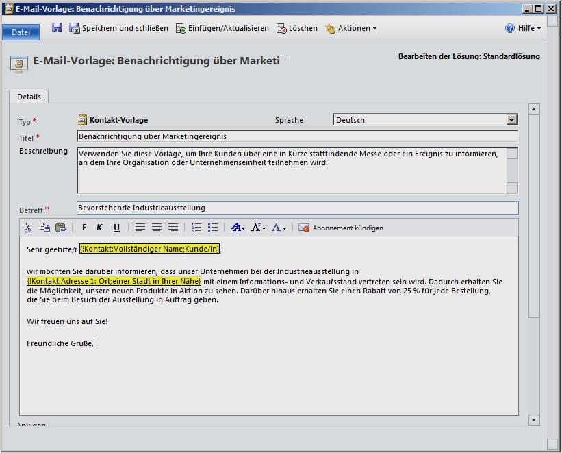 e mail signatur vorlage gesch ftlich sch nste microsoft dynamics crm 2011