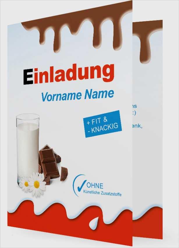 Einladung Vorlage Geburtstag Schokolade 1655