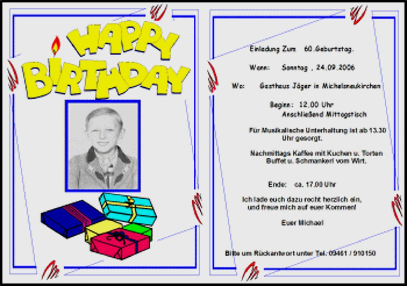 vorlage einladung geburtstag