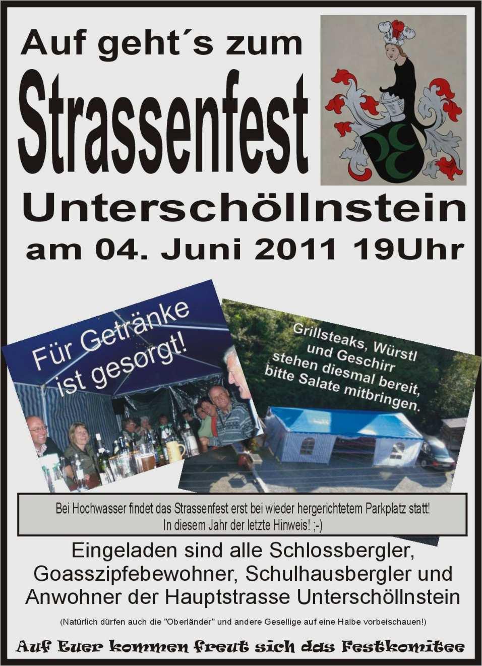 Einladung Straßenfest Vorlage