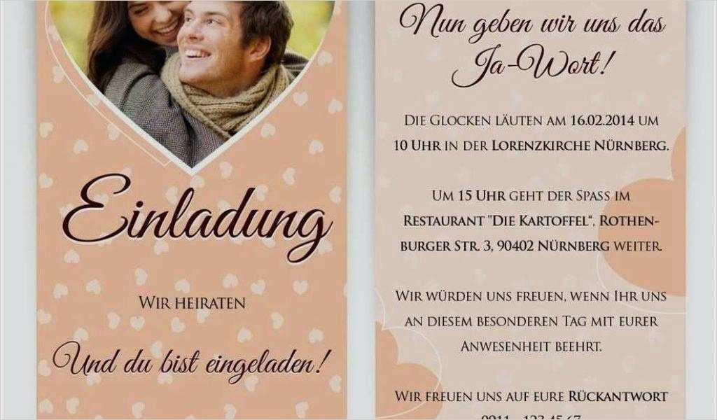 Einladungstexte Zur Hochzeit Vorlagen 18 Hübsch Sie Können