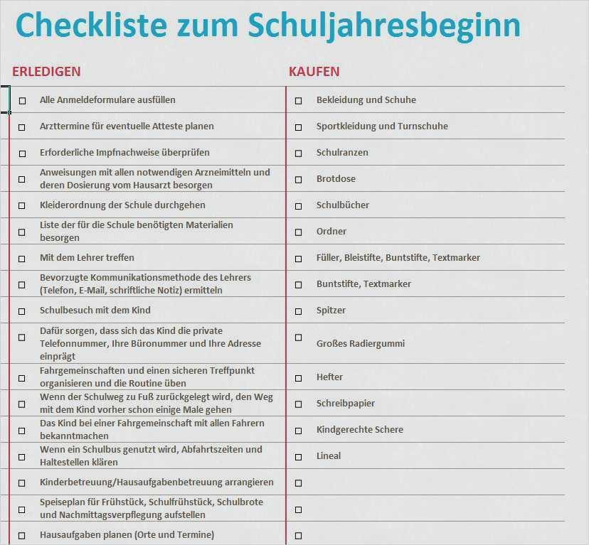 Checkliste Vorlage Im Word Format Kostenlos 6