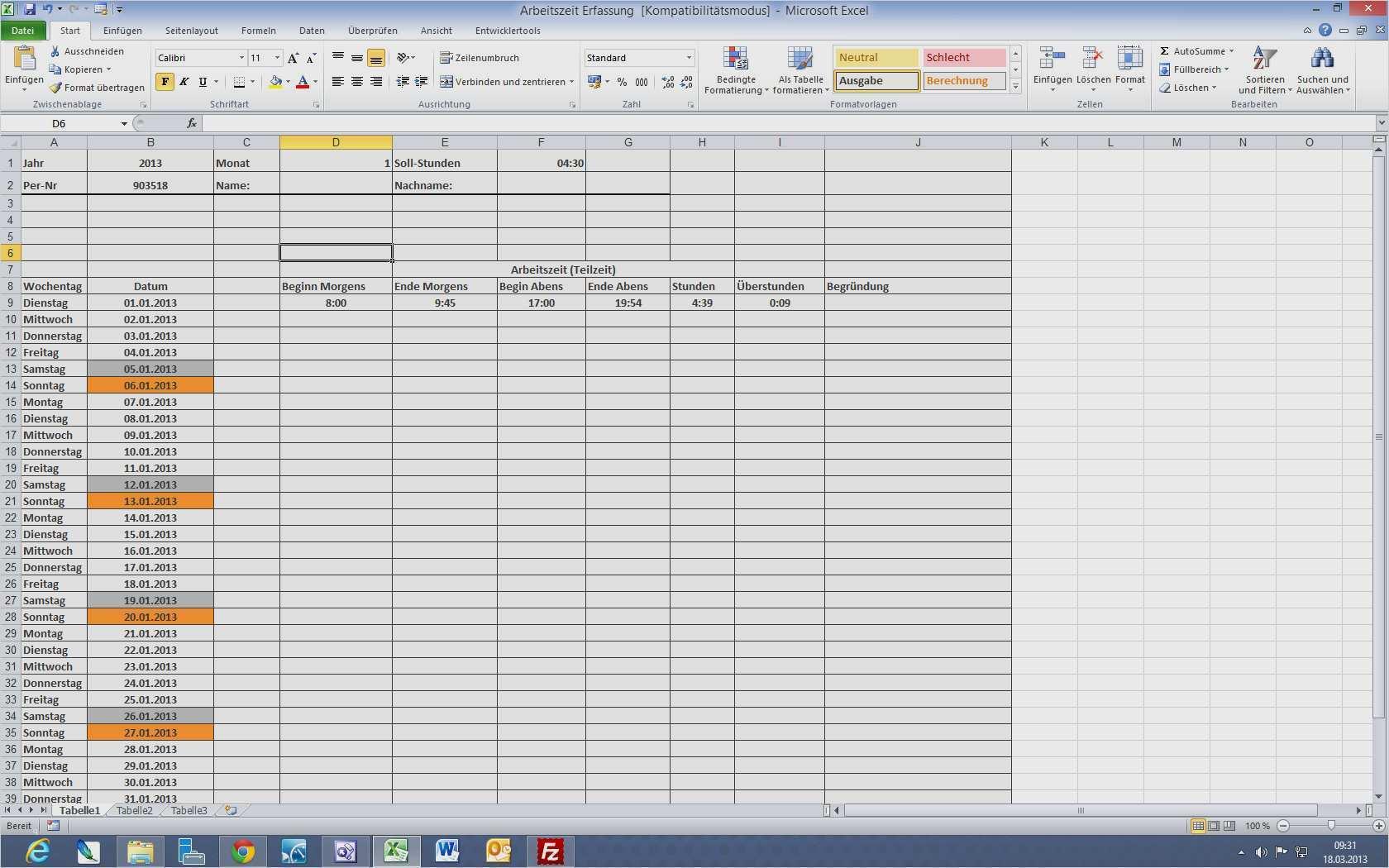 Bewundernswert Excel Vorlagen Kostenaufstellung