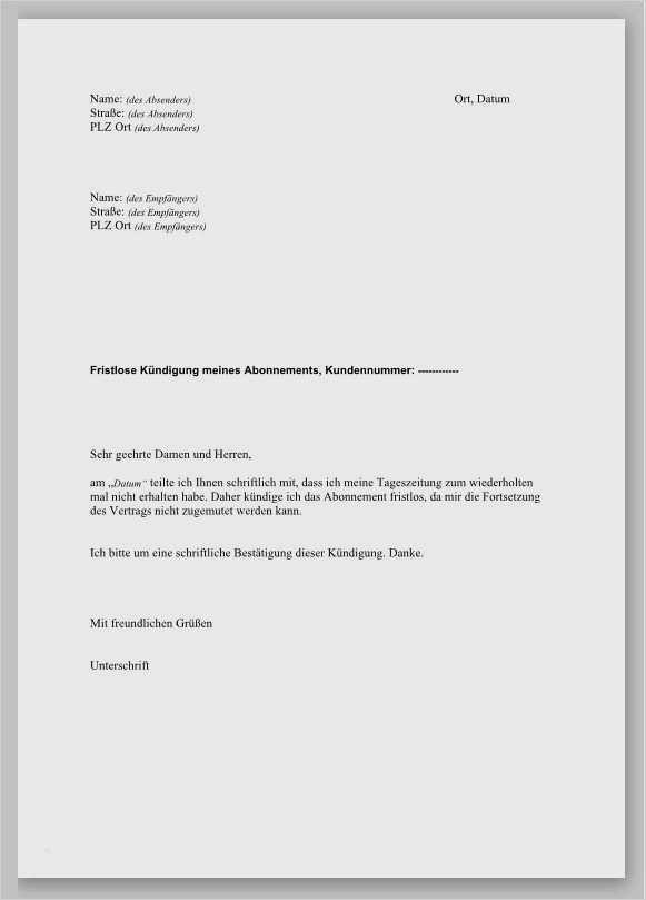 Ausserordentliche Kundigung Mietvertrag Jobruf 8