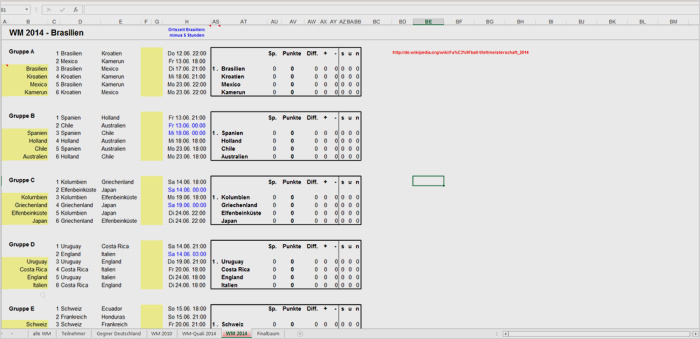 Bundesliga Spielplan Download Excel