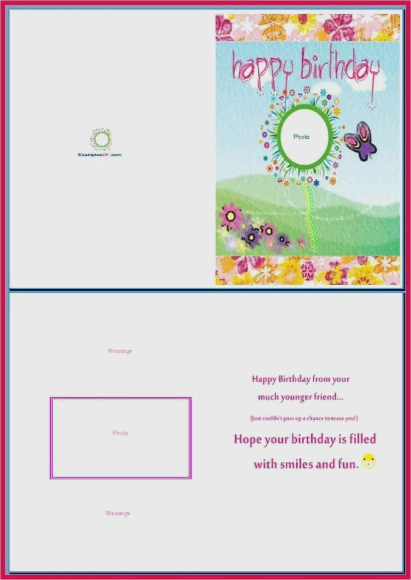 Geburtstagskarte druckvorlage word