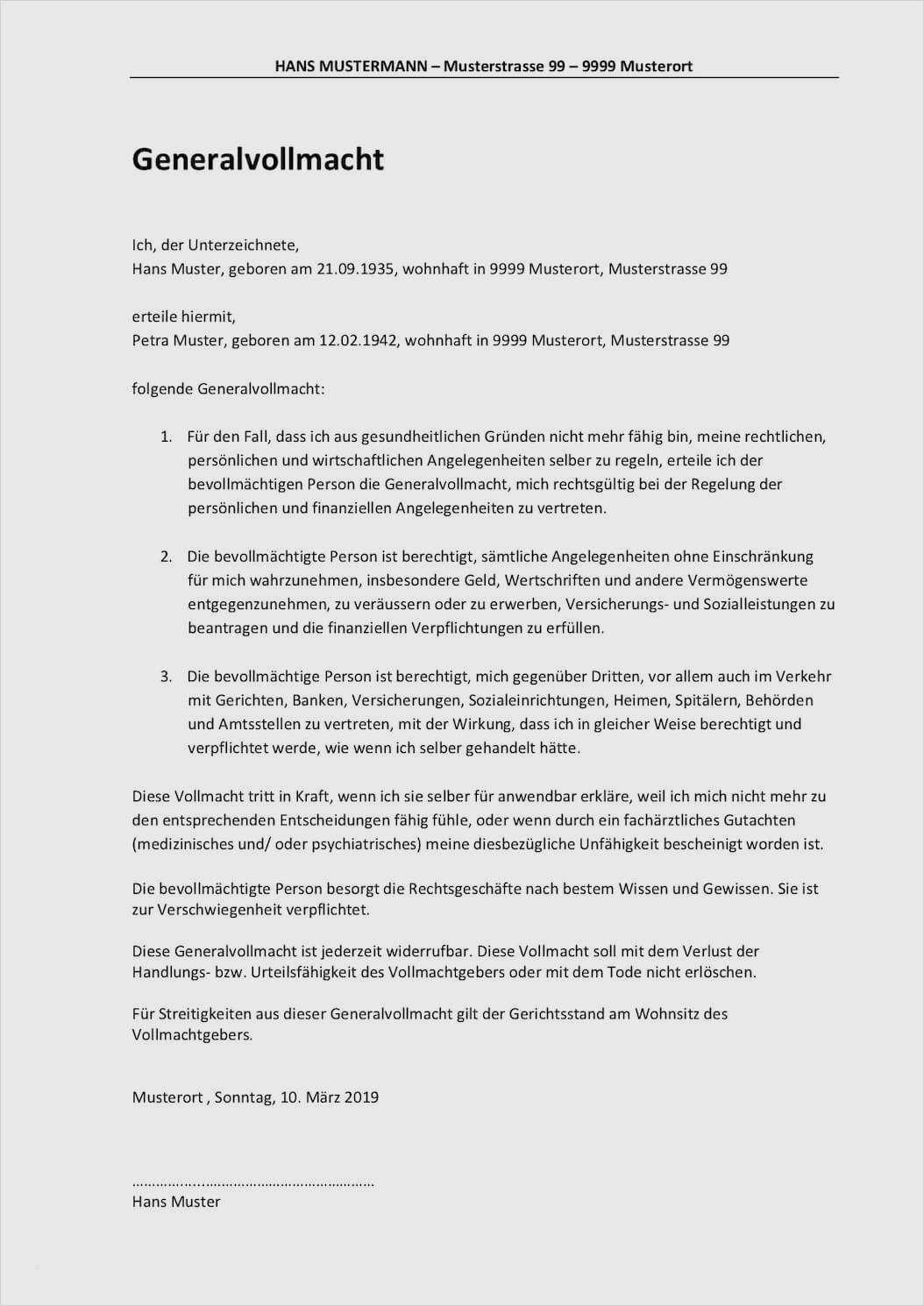 Reisevollmacht Schweiz Vorlage Im Pdf Format Gratis Download 1