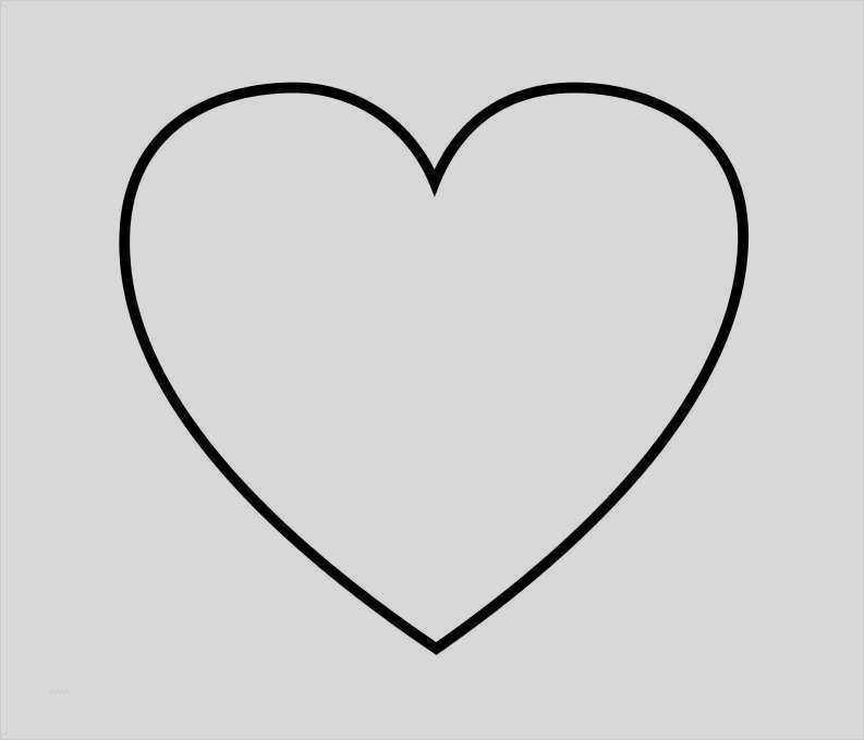 Herz In Verschiedenen Grossen Herzschablone 9