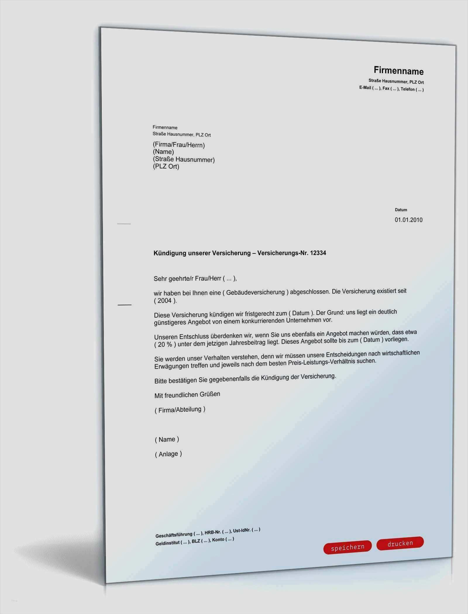 Vhv Kfz Versicherung Kundigung Vorlage Download Chip