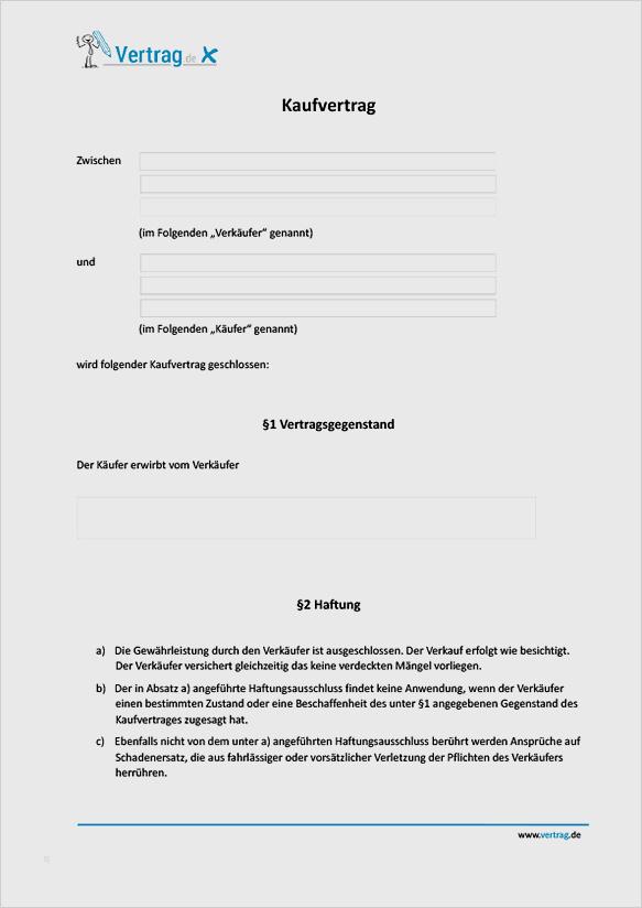 Kaufvertrag Zwischen Privatleuten Pdf