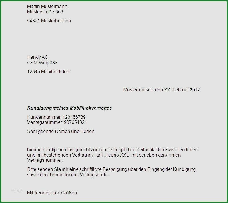 Kundigungsschreiben Vorlage Muster Beispiel Downloaden 12