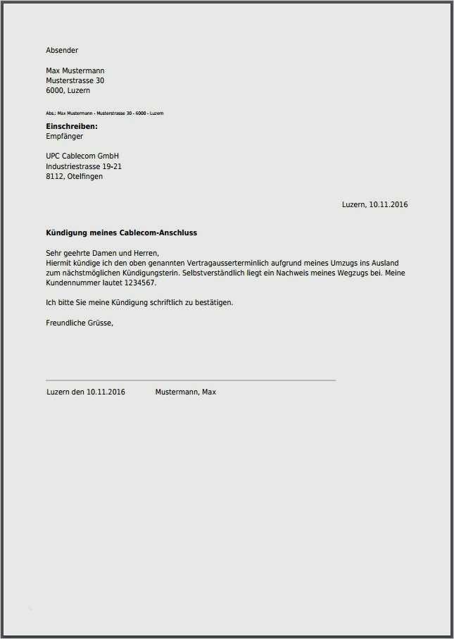 Ag kündigungsschreiben paidwings Vertrag mit
