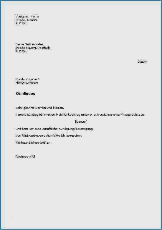 kündigungsbestätigung arbeitsvertrag muster