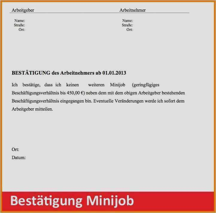 kündigung 450 euro job muster