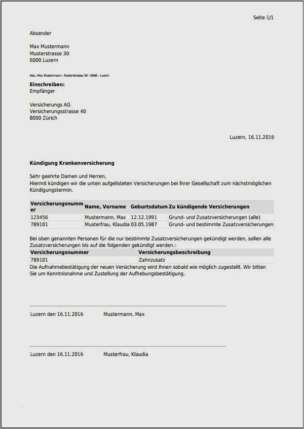 Kundigungsschreiben Haftpflichtversicherung Herunterladen