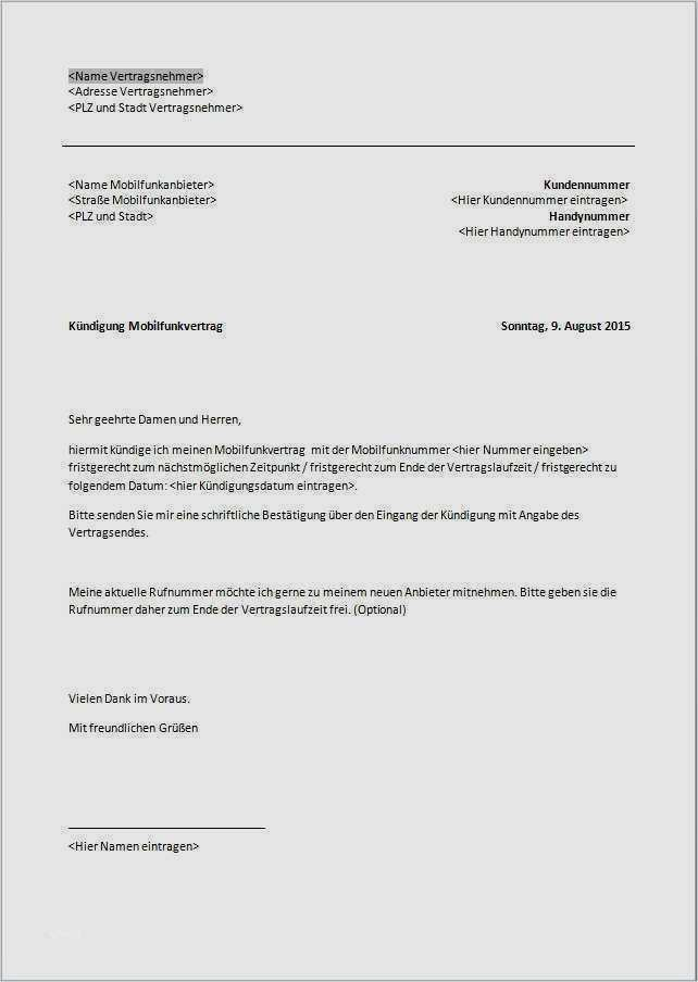 O2 Handyvertrag Online Kundigen Geprufte Vorlage 15