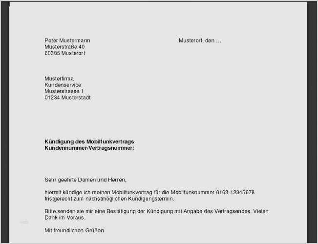 Kundigung Vertrag Telekom Vorlage 17 Grossartig 1