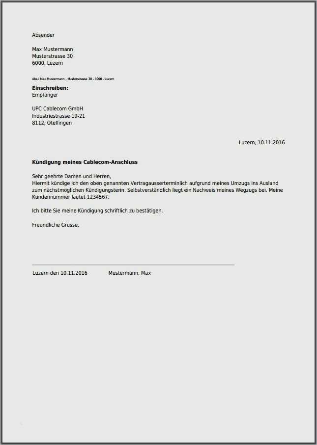 Email kündigung