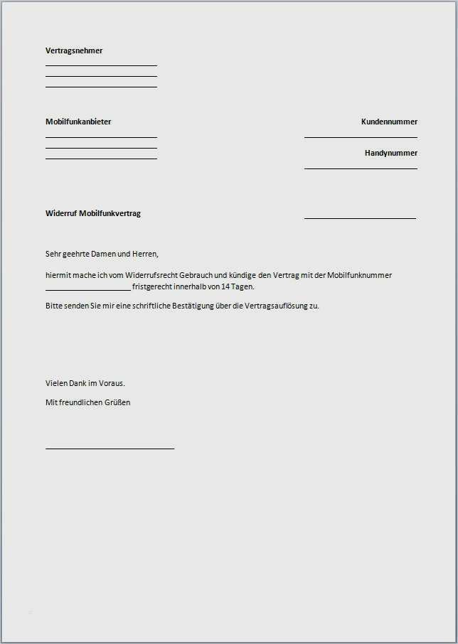 Kundigungsschreiben Vorlagen Muster Fur Vertrage