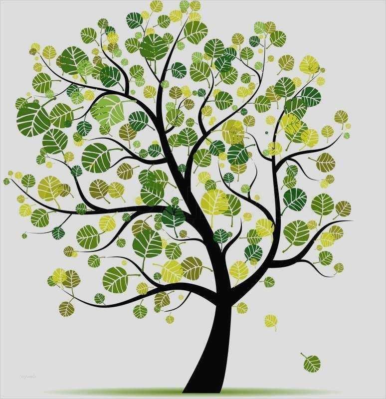 Fingerabdruck Baum Vorlage Rustikal Herz