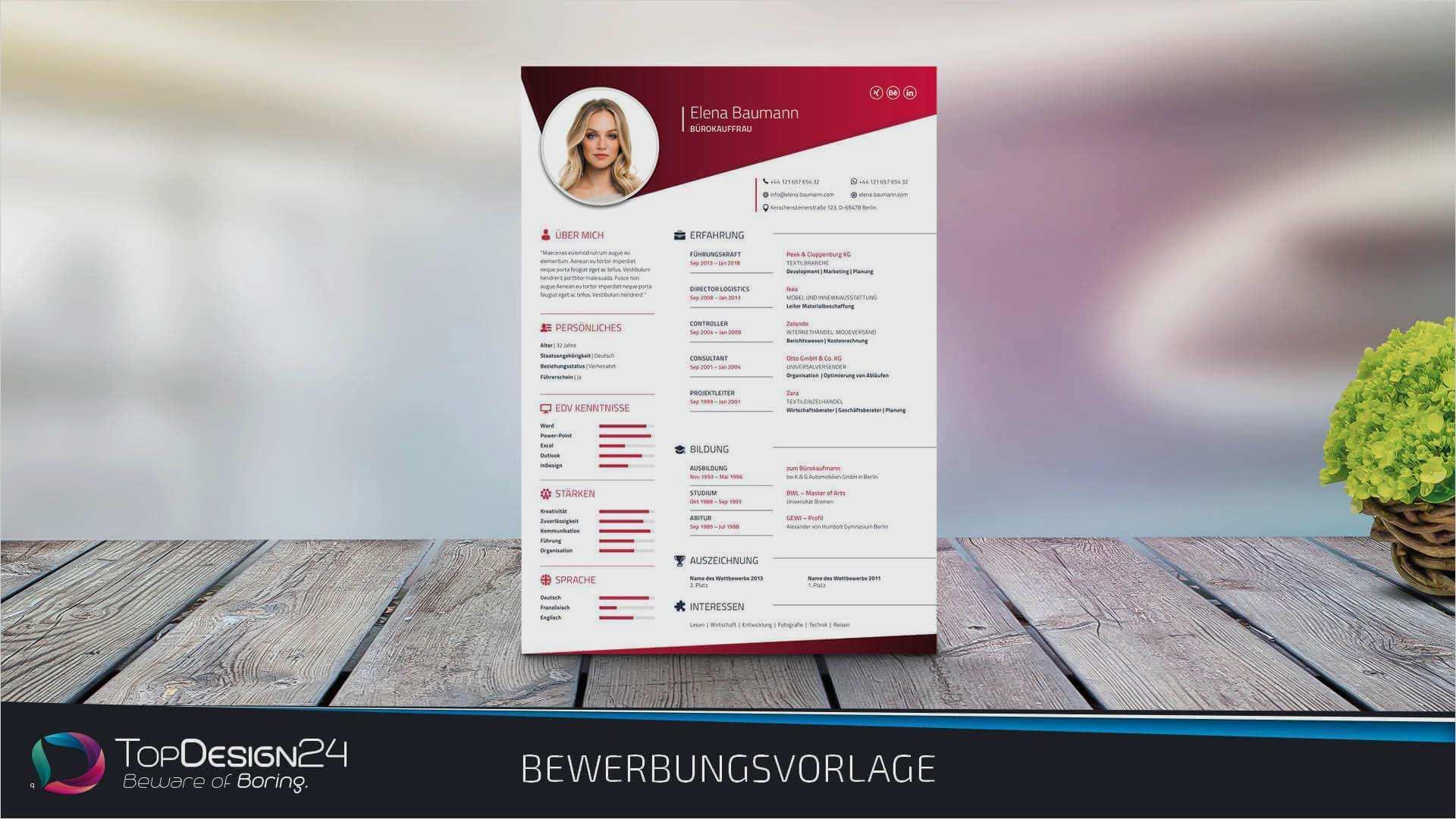 Lebenslauf 2018 Vorlage Inspiration Lebenslauf Vorlage 2018 topdesign24 Bewerbungsvorlage