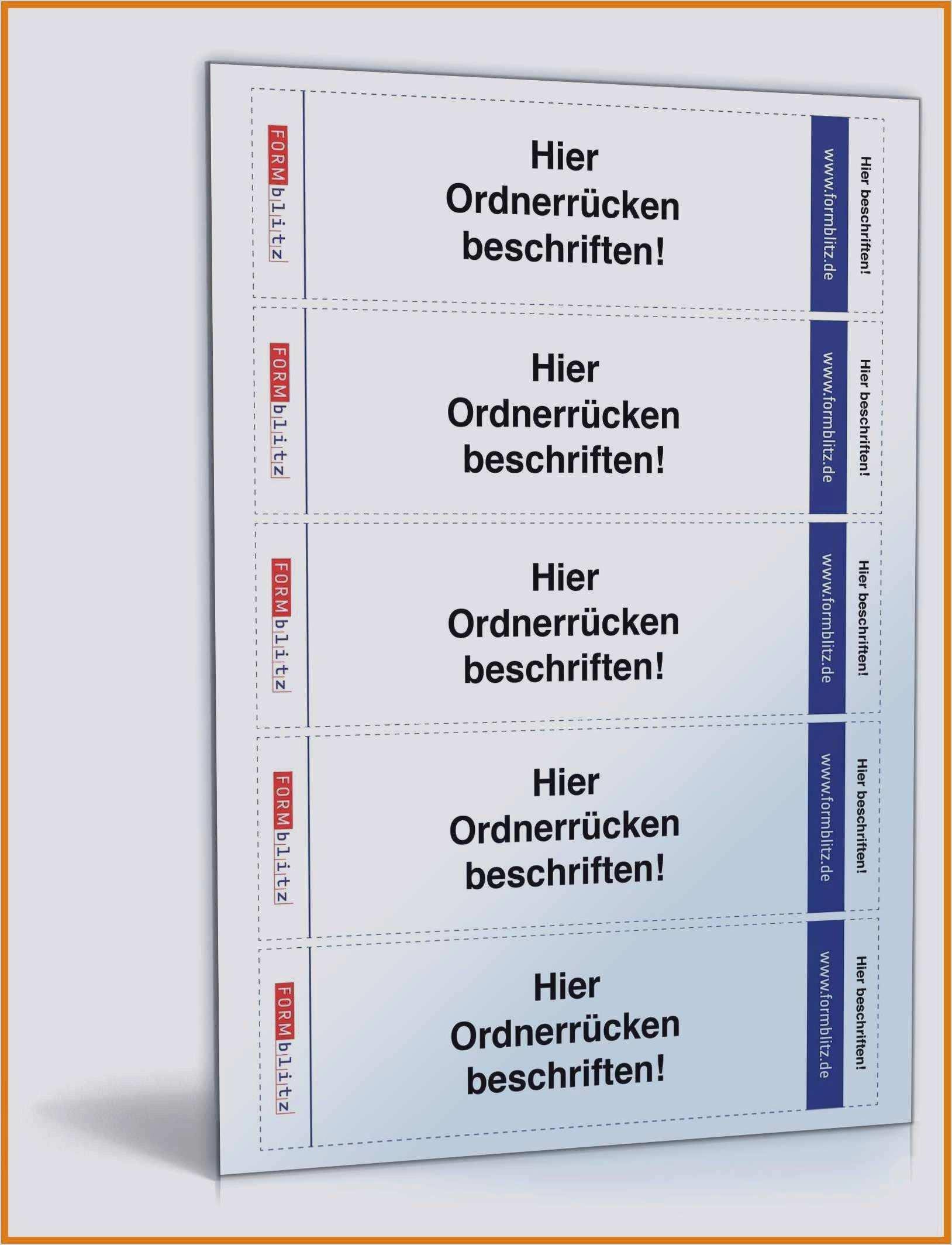 Ordnerregister Vorlage Deckblatt Gratis Word