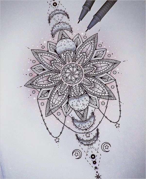 Fabelhaft Mandala Tattoo Vorlagen Sie Konnen Anpassen Fur Ihre