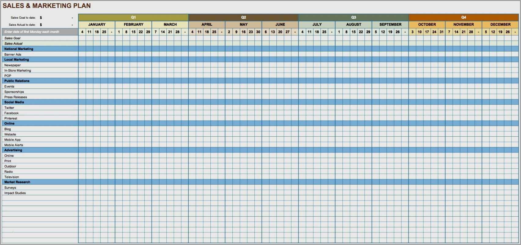 9 Kostenlose Marketingkalender Excel Vorlagen Smartsheet 12