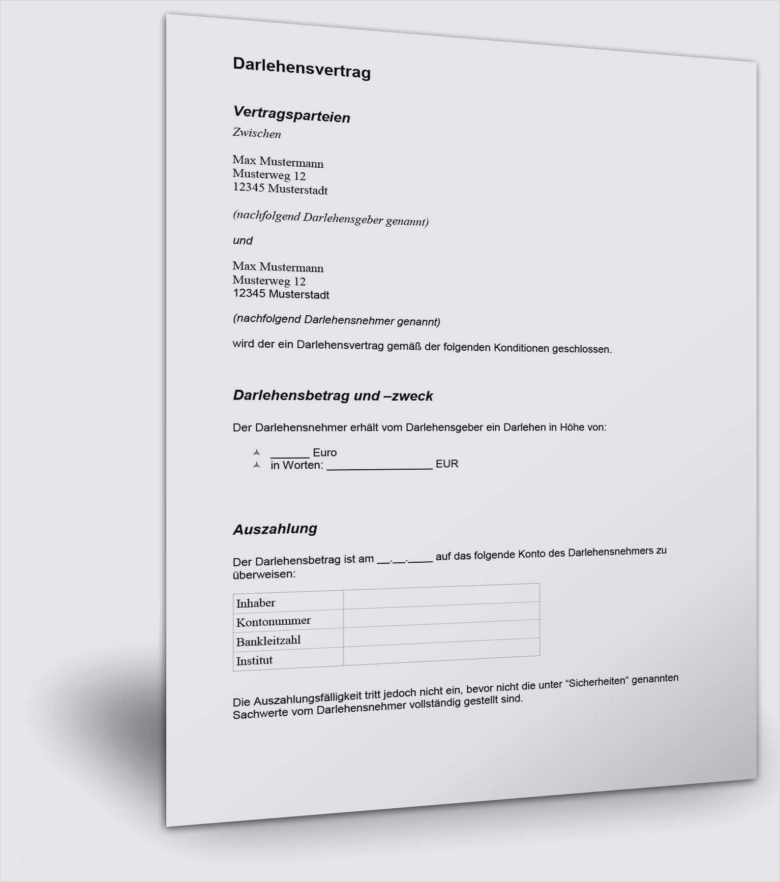 Kaution Gratis Vorlagen Und Musterschreiben Downloaden